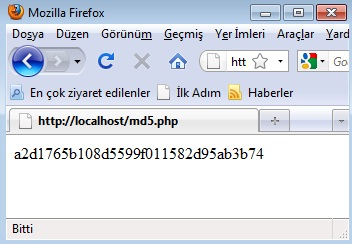 php md5
