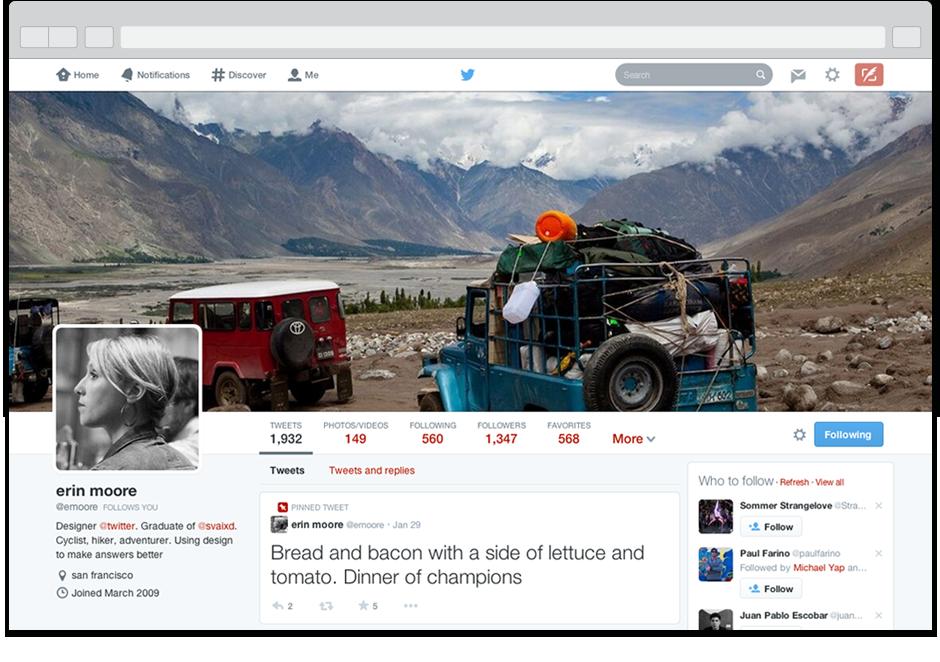 Twitter Yeni Tasarım Ekran Görüntüsü