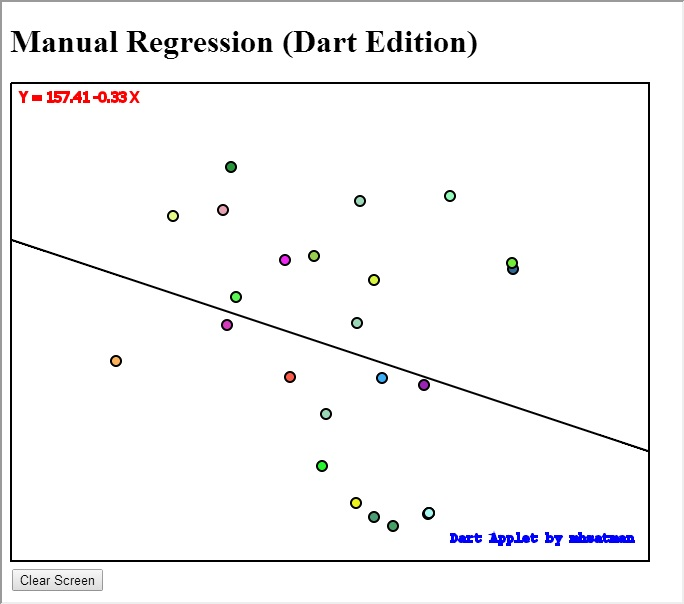 Manual Regression (Dart Edition)