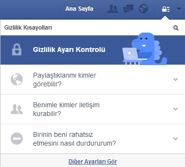Facebook Gizlilik Ayarları Değiştirildi