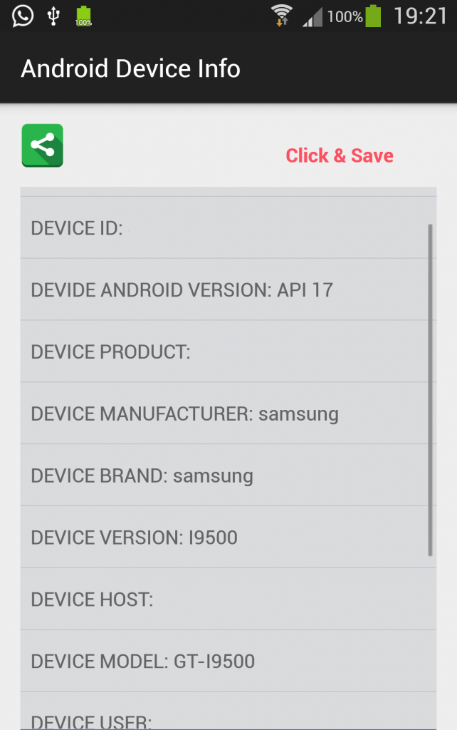 Android Device Information Tool Application