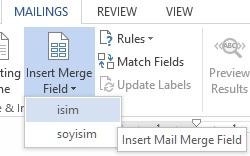 Excel Dosyasından Gelen Sütun Adları Listesi